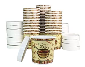 16 Oz. Double Sided Poly Coated Paper Soup Containers Ice Cream Containers Hot and Cold... by ChefLand
