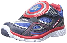 Stride Rite Captain America A/C Light-up Sneaker (Toddler/Little Kid), Blue, 8 M US Toddler