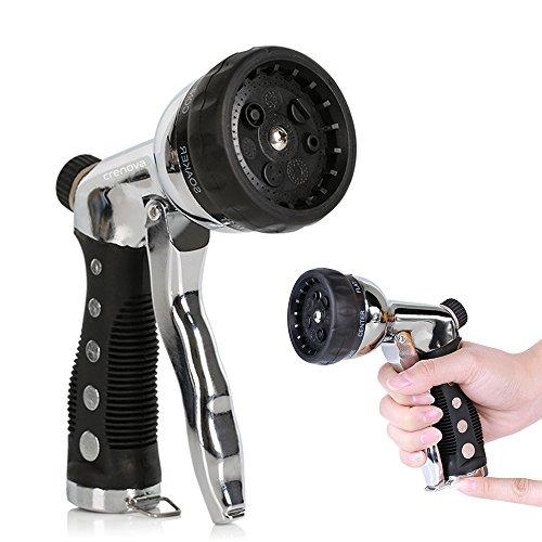 Crenova Hn 04 Heavy Duty Metal Garden Hose Nozzle Sprayer Car Wash Gun 3 4 Inch 7 Spraying