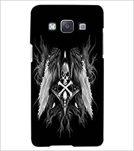 PrintDhaba Skull and Bone D-2197 Back Case Cover for SAMSUNG GALAXY A5 (Multi-Coloured)