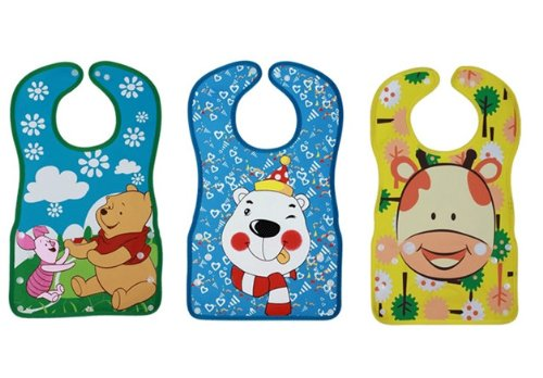 Baby Waterproof Stereo Soft Bib Sets 3pcs/6 Months-3 Years