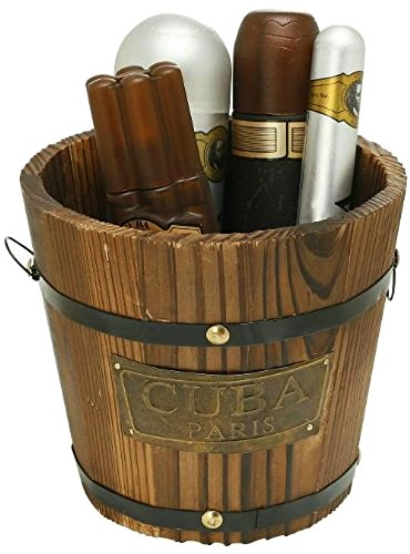 Cuba Gold by Cuba for Men - Gift Set - 3.4oz edt Spray, 6.7oz deodorant Spray, 3.3oz after shave, 1.17oz edt Spray with bucket