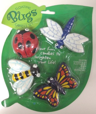 Floating Bugs Unescented Wax Candle Set (4pcs) - 1
