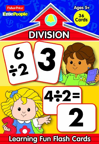 Fisher Price Little People Math Flash Cards-Division (Fisher Price Math Flash Cards compare prices)