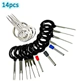 Adduswin 14pcs T0025D Auto Terminals Removal Key Tool Set | Car Electrical Wiring Crimp Connector Extractor Puller Release Pin Kit