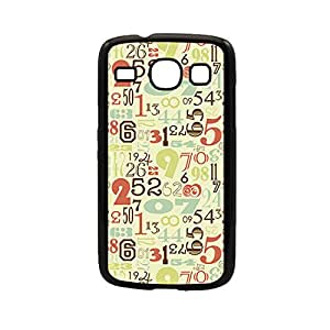 Vibhar printed case back cover for Samsung Galaxy Core RetroNumbers