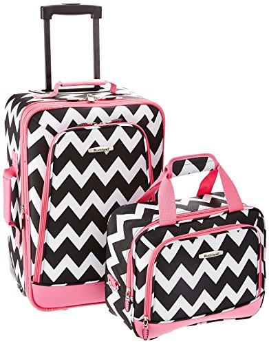 rockland-2-piece-expandable-luggage-set-pink-chevron-one-size