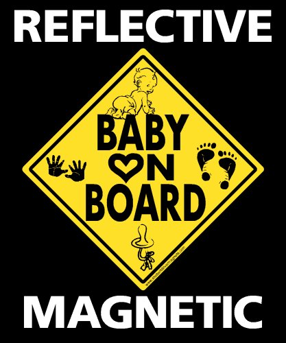 Baby on Board Reflective Magnetic Vehicle Magnet Sign