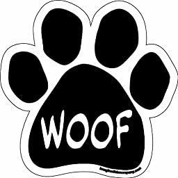 Imagine This Paw Car Magnet, Woof, 5-1/2-Inch by 5-1/2-Inch