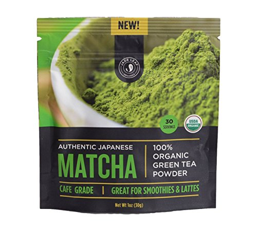 New! Jade Leaf Organics Authentic Japanese Matcha, 100% Usda Organic Green Tea Powder, Cafe Grade, 30G (30 Servings)
