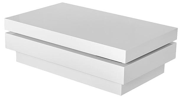 Miyazaki High Gloss girante tavolino (bianco)
