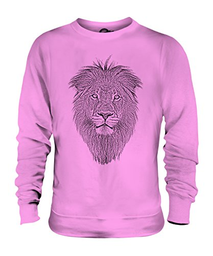 Lion-Felpa Unisex con Top-Felpa da uomo/donna, da donna Candyfloss XX-Large