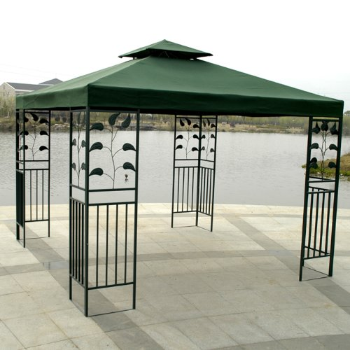 10 X 10 Replacement Gazebo Canopy Green Top