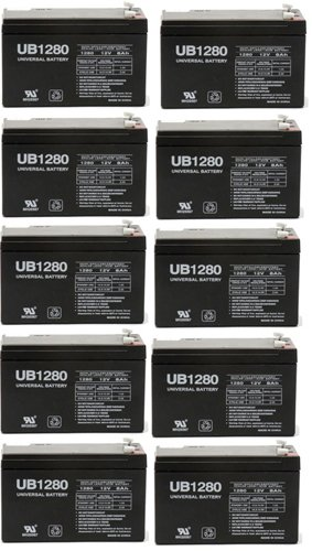 12V 8 Ah Ups Battery Replaces 7Ah Rhino Sla7-12 T25, Sla 7-12 T25 - 10 Pack