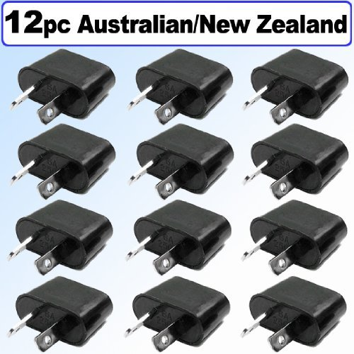 Ckitze 12-Nz American/European To Australian/New Zealand Outlet Plug Adapter - 12 Pack