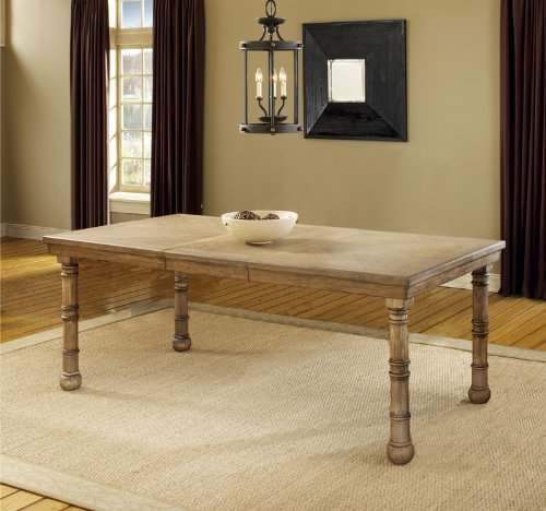 Hartland Extension Dining Table in Light Washed Oak Hillsdale-4534-814