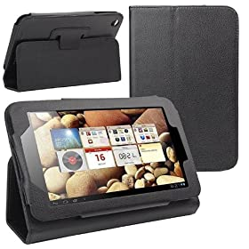 Elite Flip Leather Case Cover with Stand and Magnetic Lock for Lenovo A3000 7-inch Tablet (Black)