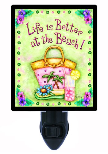 Tropical Night Light - Better At The Beach - Palm Trees Led Night Light front-1012249