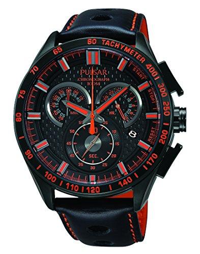 Pulsar PX7011 44 mm de acero inoxidable recubierto negro Hardlex funda DE (utilizar para Seiko con un tamaño de apenas) reloj para hombre
