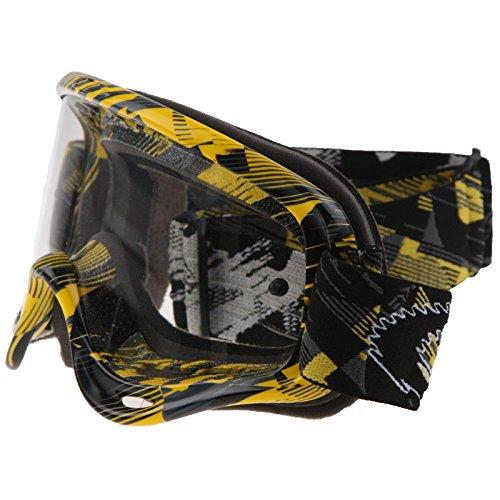 Oakley XS O-Frame MX Goggles Digi slash grey/yellow/clear