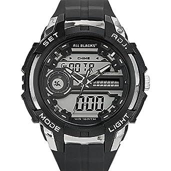 0d766d4bcc734 Buy All Blacks - 680155 - Montre Homme - Quartz Analogique - Digital -  Cadran Noir