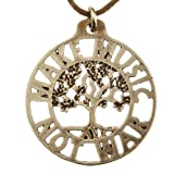 Make Music Not War Tree of Life Peace Bronze Pendant Necklace on Adjustable Natural Fiber Cord