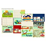 Simple Stories Urban Traveler 4x6 Horizontal Journal Card Element 2 12x12 Paper