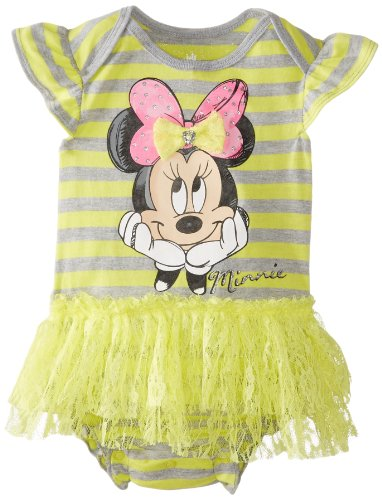 Disney Baby Baby-Girls Newborn Minnie Mouse Bodysuit with Tulle Skirt