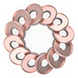 Discagenda Aluminum Disc-binding Discs 33mm 1.3in 12 Piece Set Rose Gold