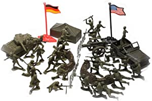 World War II Toy Soldiers Childrens Military Play Set