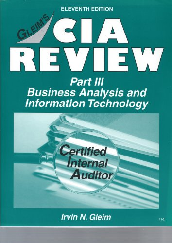 CIA Review, Part 3: Business Analysis and Information Technology