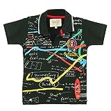 TONYBOY Boy's Printed Polo T-Shirt (DkGreen)