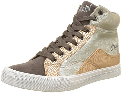 KaporalAmelia - Sneaker Donna , Grigio (Gris (Gris Argent)), 40