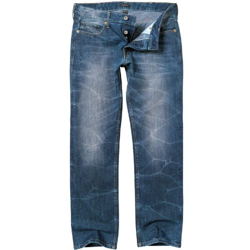 Firetrap Mens Sifton Regular Slim Jeans Mid Wash
