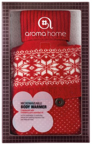 Aroma Home Festive Fun Knitted Body Warmer with Microwavable wheat filled Insert