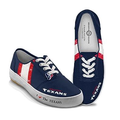 Ladies Shoes: I Love The Texans Canvas Ladies Shoes by The Bradford Exchange by Bradford Exchange