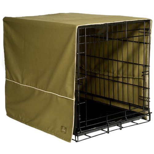 Pet Dreams 42 By 28-Inch Classic Crate Cover, X-Large, Olive