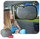 Car Sun Shade by Freddie and Sebbie - Luxury 2-Pack Car Sunshade - Guaranteed To Protect Your Child From Sun Glare, Sun Heat and UV Rays - Provides UPF 30+ Sun Protection - Fits Perfectly On Most Vehicles - Protect Your Child Today With These Luxury Car SunShades And Dont Let Your Child Suffer Any Longer - Comes With A Lifetime Guarantee From A Company You Can Trust