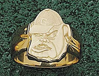 Georgia Bulldogs Bulldog Face Mens Ring Size 10 1 2 - 14KT Gold Jewelry by Logo Art