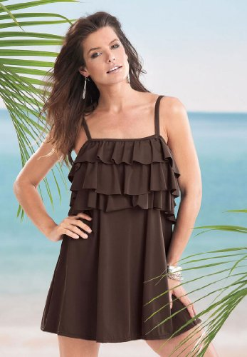 ff748d1690c Laure Bena Blog  Roamans Plus Size Ruffle Trim Swimdress