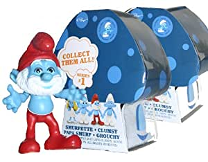 The Smurfs Movie 2 - Mushroom House Surprise Figure Pack- Set of 3