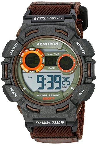 armitron-40-8370brn-digital-del-deporte-los-hombres-reloj-cronografo-correa-de-nailon-color-marron