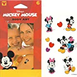 Disney Mickey and Minnie Mouse Kissing Love Body Art Temporary Tattoo