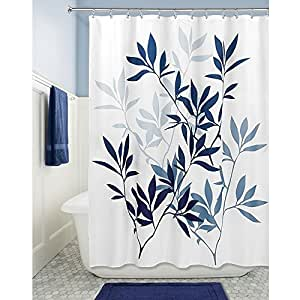 Interdesign leaves soft fabric shower curtain for Bathroom decor amazon