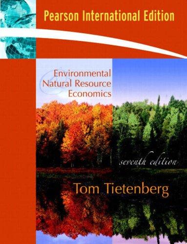Environmental & Natural Resource Econom