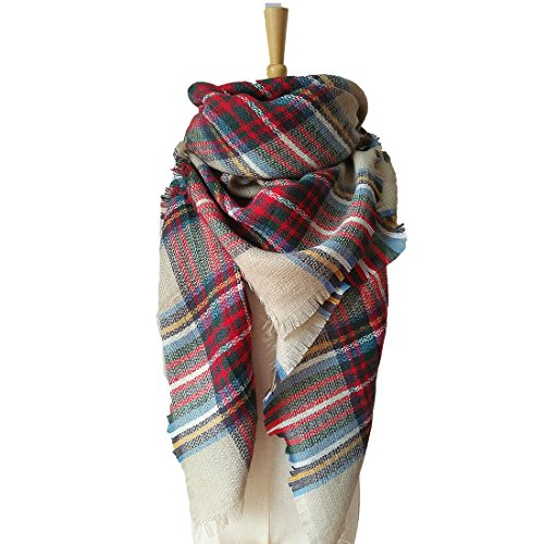 VINNEL® Tartan Fashion Scarfs for Women Lovely Best Gift Scarf Wrap Shawl (Colorful)