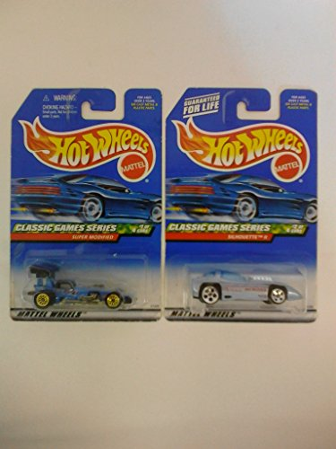 Hot Wheels 1999 Classic Games Series #'s 1 & 2 (Out of 4) - 2 Cars Total - 1