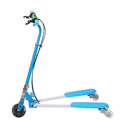 Trottinette Pliable avec Frein au Guidon Vélo et Véhicule pour Enfants Sport en Plein Air avec 3 Roues