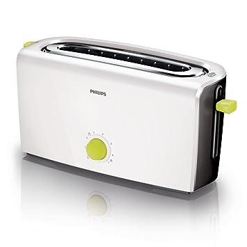 Klarstein Grill Pain Multifonction 4 Fentes avec Toaster, Bagel, d/écong/élation, r/échauffage, Design Retro, id/éal Famille, 6 Niveaux de Chauffe Argent