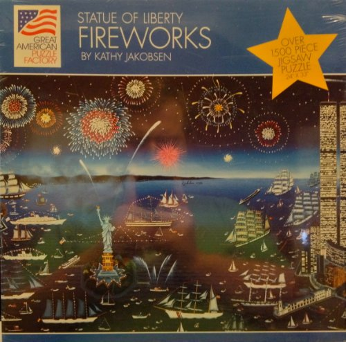 Great American Puzzle Factory: Statue of Liberty Fireworks by Kathy Jakobsen 1,500pc.